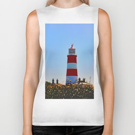 Happisburgh Lighthouse portrait Biker Tank