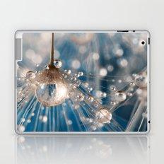 Dandelion Blue Sparkling Drops Laptop & iPad Skin