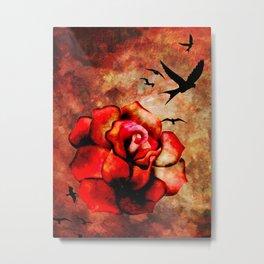 Rosey Inferno Metal Print