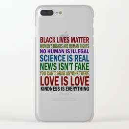 Women's Rights News Isnt Fake Black Lives Mater Clear iPhone Case