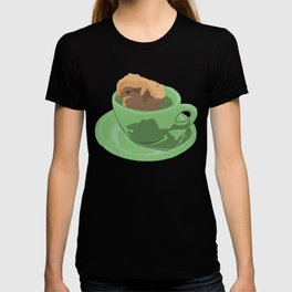 Baby Chick in Jadeite Cup Illustration T-shirt