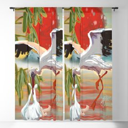 Stork and Baby Blackout Curtain