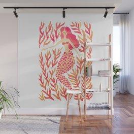 Kelp Forest Mermaid – Peach Palette Wall Mural