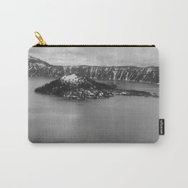 Mountain Lake View B&W Carry-All Pouch