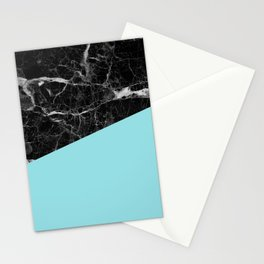 Black Marble and Island Paradise Color Stationery Cards