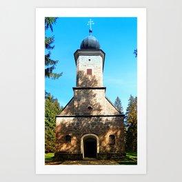 Maria Rast forest chapel 2 Art Print