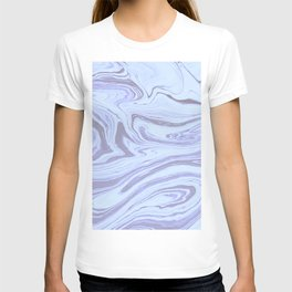 White and Lilac Marble T-shirt