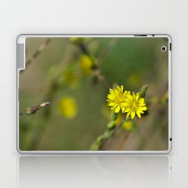 Golden flowers by the lake 3 Laptop & iPad Skin