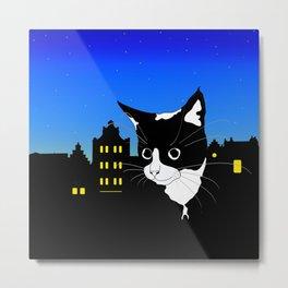 City Kitten Metal Print