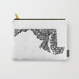 Typographic Maryland Carry-All Pouch