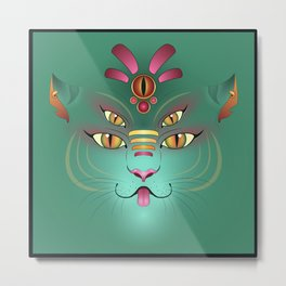 Tigress Monster Face Metal Print