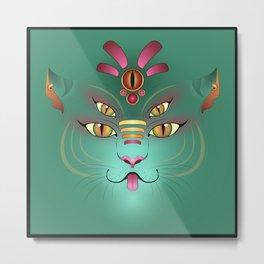 Tigress Monster Face Metal Print