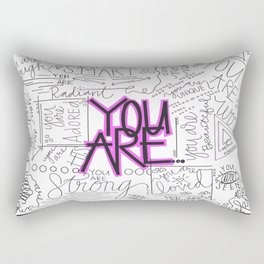 You Are - Fuchsia Rectangular Pillow