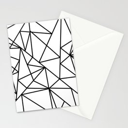 Black white modern abstract geometrical pattern Stationery Cards