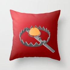 Boobie Trap Throw Pillow