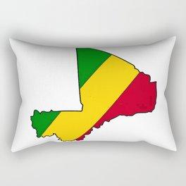 Mali Map with Malian Flag 1 Rectangular Pillow