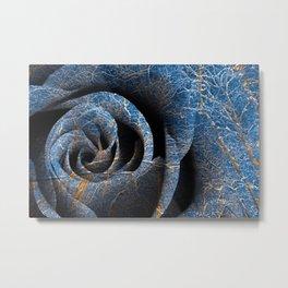 Susquehanna Winter Rose Metal Print