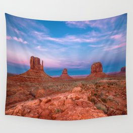 Westward Dreams - Sunset in Monument Valley Wall Tapestry
