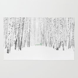 White Winter Day Rug
