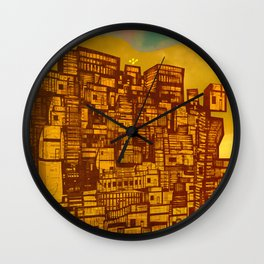 Sepiantida Wall Clock