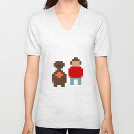 E.T. and Elliot Unisex V-Neck