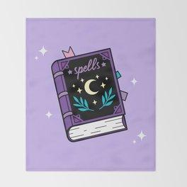 Magical Spellbook Throw Blanket