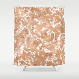 Rose gold marbled texture Shower Curtain