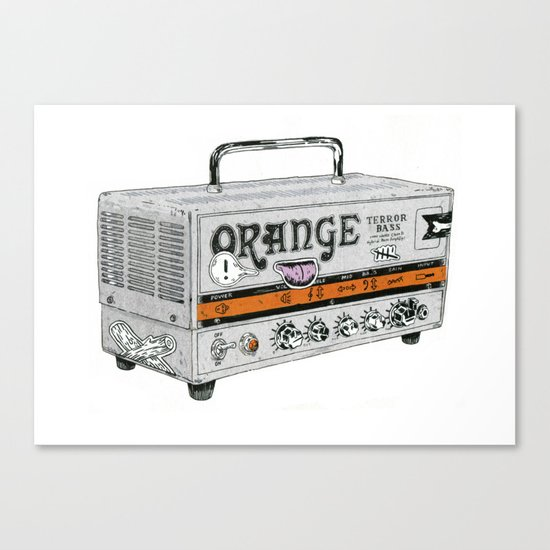 Orange Terror Bass Amplifier ( with stickers) Canvas Print
