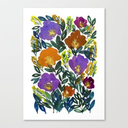 hand painted flowers Canvas Print