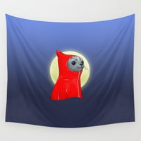 seal Wall Tapestries featuring Hooded Seal by Mirco