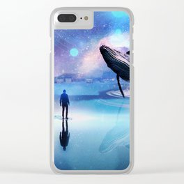 Walking with Whales Clear iPhone Case