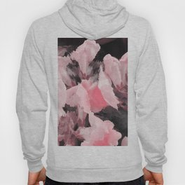 Light Pink Snapdragons Abstract Flowers Hoody