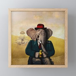 Mr. Preston J. Pachyderm visits the Sphinx Framed Mini Art Print
