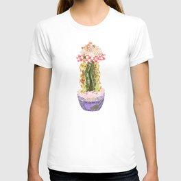 Papercraft Cactus in Orange T-shirt