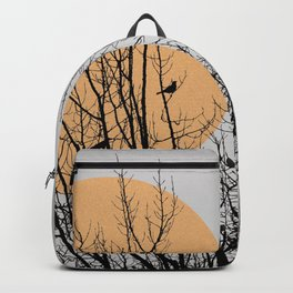 Birds and tree silhouette Backpack