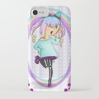 pastel goth iPhone & iPod Cases featuring Girl Pastel Goth by Fanuna