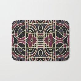 Tribal Style Ornate Grunge Pattern  Bath Mat