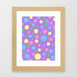 Colorful circles pattern Framed Art Print