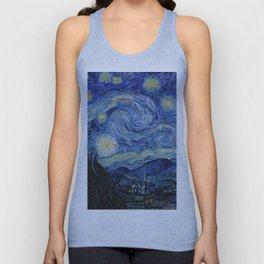 Starry Night by Vincent van Gogh Unisex Tank Top