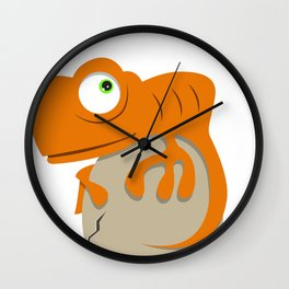 Cute Chameleon Wall Clock