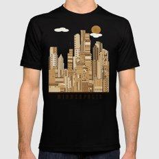 Minneapolis skyline Black X-LARGE Mens Fitted Tee