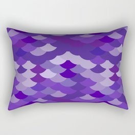 Ultra Violet wave, abstract simple background with japanese seigaiha circle pattern Rectangular Pillow