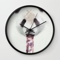 anxiety Wall Clocks featuring Anxiety by tije