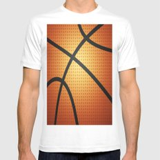 Basketball Mens Fitted Tee White MEDIUM