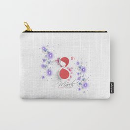 International Women's Day Bubbles N Hearts Carry-All Pouch