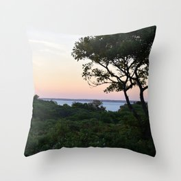When the Night Sky Touches the Ocean Throw Pillow