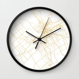 OTTAWA CANADA CITY STREET MAP ART Wall Clock