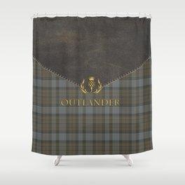 TARTAN LEATHER OUTLANDER Shower Curtain