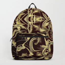 dark red Digital pattern with circles and fractals artfully colored design for house and fashion Backpack