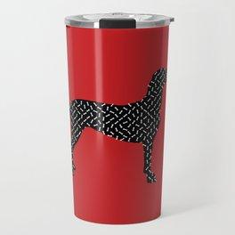 the greedy dog Travel Mug